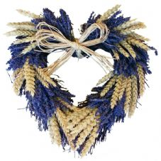 Lavender and Wheat Twig Heart (3 sizes available)